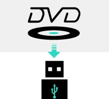 Скопируйте DVD на USB